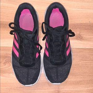 Adidas cloudfoam running shoes black mesh size 8